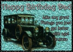 Vintage wishes for a dad that gets better as he gets older. Free online Like A Fine Vintage ecards on Birthday Birthday Hug, Happy Birthday Dad, Birthday Wishes Funny, Birthday Songs, Group Of Cats, Happy Panda, Colorful Birthday, Cute Teddy Bears, Wishes For You