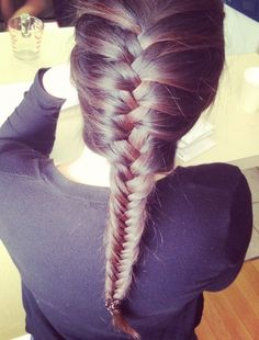 French Fishtail Braid Hair - Latest Popular Braided Hairstyles