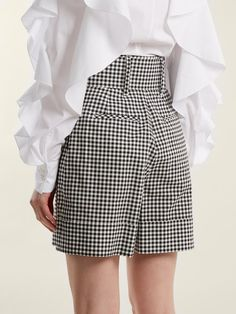 Gingham Shorts, Cotton Shorts, Stylish Work Outfits, Casual Outfits, Trendy Tops For Women, Tweed Fabric, Plus Size Outfits, Mini Skirts, Mcqueen