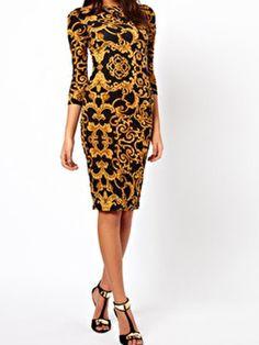A Printed Dress