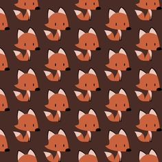 Red fox fabric by petitspixels on Spoonflower - custom fabric
