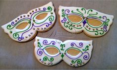 images of mask cookies | Diana's Dream Sweets: Mardi Gras Mask Sugar Cookies