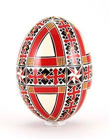 Easter egg in batik technique gleaming