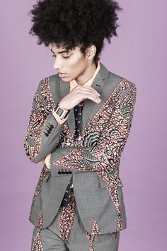 dashikimono:  dent de man wax print suit