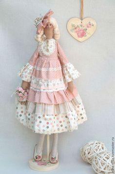 Tilda dolls handmade.  Fair Masters - handmade.  Buy Tilda Zefirka.  Handmade.  Cream, vintage style ♡