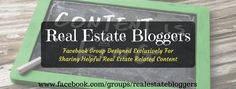 Are you a real estate blogger?  Enjoy reading great real estate content?    Come join the best Facebook real estate group for real estate bloggers or those who love discovering new content!    Join us at https://www.facebook.com/groups/realestatebloggers/  @KyleHiscockRE @massrealty @madisonmortgage