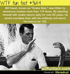 Knew him!  Had Serpentarium in Miami. .. did research... and shows for the public...