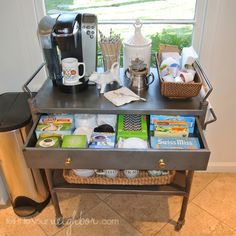office coffee cart. Could I Turn This Cart Into A Moveable Home Office??? Work Space On Office Coffee