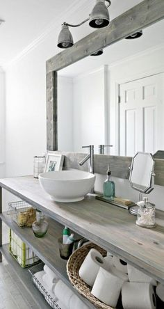 clean bathroom - everything in its place