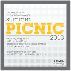 Announce your next corporate picnic with these cute event invitations. With meeting rooms, a full buffet, arcade games and attractions, PowerPlay's the only place to have your next corporate event! Corporate event venue Kansas City