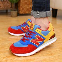 new balance 574 sneakers yellow