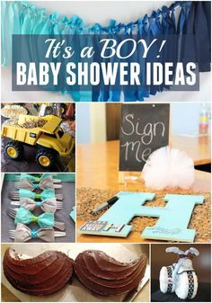 It's a Boy! Best Baby Shower Ideas!