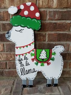 Your place to buy and sell all things handmade llama door hanger, Christmas llama door hanger, llama sign, Christmas door hanger, llama Llama Christmas, Christmas Yard Art, Christmas On A Budget, Christmas Door Decorations, Christmas Wood, Christmas Signs, Christmas Projects, Winter Christmas, Holiday Crafts