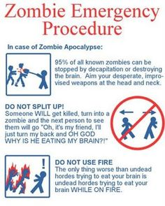 Important zombie emergency procedures everyone should know