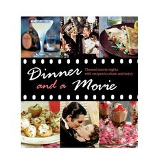 Throw yourself a themed dinner party again and again with the fun and delicious recipes in the pages of this whimsical cookbook. Whip up a hot curry for a Bollywood flick, BBQ for westerns, soda shop f...  Find the Dinner and a Movie Cookbook, as seen in the 24 Hour Clearance Sale: Day 1 Collection at http://dotandbo.com/collections/presidents-day-weekend-sale-2016-decor-clearance-day-1?utm_source=pinterest&utm_medium=organic&db_sku=CIC0028