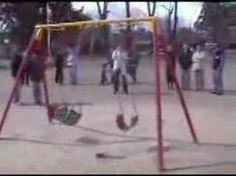 """The Haunted Playground. Scientists have reportedly been left baffled by a """"haunted"""" playground swing that rocks backwards and forwards on its own. Locals in Firmat, Argentina claim one seat swings nonstop for ten days before stopping dead, while other swings remain still. Parents and children are convinced a ghost is to blame for the phenomenon, reports The Sun. They reported the swing to police after it began moving four months ago, Police officers had to admit they were stump..."""