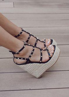 Cute Wedges Shoes, Shoe Wedges, Summer Wedges Shoes, Womens Shoes Wedges, Summer Heels, Cork Wedges, Cute High Heels, High Heels For Girls, Silver High Heels
