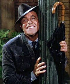 Gene Kelly in the movie, Singing in the Rain.