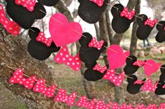 Variety Pack Set of 4 Minnie Mouse Felt Garlands by DovDesigns, $75.00