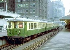 """The """"L"""", Old 4000 series cars....Chicago, 1960""""s"""