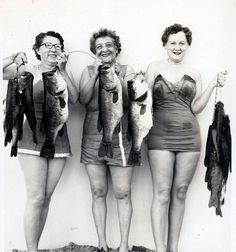 Ladies with Big Fish Catch - 195(?) by Lake Wales Public Library Archives, via Flickr