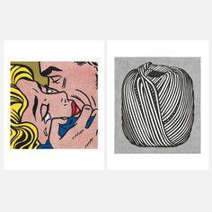 """serigraph - ART PRINT POSTER 11/"""" x 14/"""" KISS V LICHTENSTEIN ROY 259"""