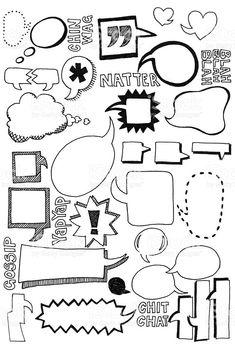 Speech bubble doodles royalty-free stock vector art