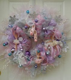 Sugarplum Fairy Wreath made by The Artful Diva Designs Deco Mesh
