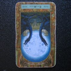 032613: Reversed Moon - Confusion, uncertainty, misjudgment, and deception all bring a feeling of chaos, even madness, into your life