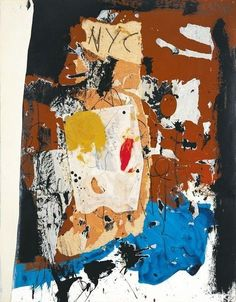 Robert Motherwell, New York City Collage - 1959 on ArtStack #robert-motherwell #art