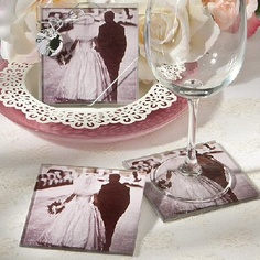 www.hastings-crystal.co.uk >> Weddings >> Wedding Favours / Favours >> Useful Favours >> Vintage Photo Coaster Favours Set Of 10 (Discount For Bulk)