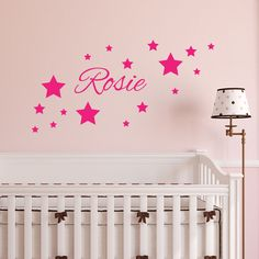 Personalised Name Stars Wall Art Boy s Girl s Bedroom Vinyl Sticker Decal