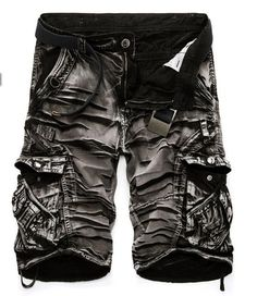 Men's Shorts, casual loose cargo large size multi-pocket pants overalls 8 colors