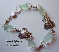 sea jewlery   ... Sea Glass Bracelet, Beach Glass Bracelet, Sea Turtle Seaglass Jewelry mermaid