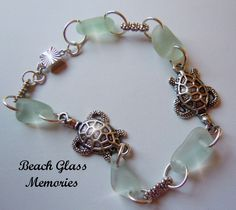 sea jewlery | ... Sea Glass Bracelet, Beach Glass Bracelet, Sea Turtle Seaglass Jewelry mermaid