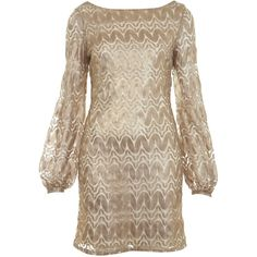 Gold Zigzag Dress ($68) ❤ liked on Polyvore