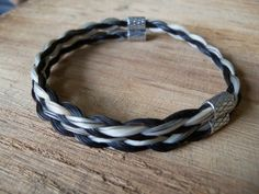 Sterling Silver Adjustable Horsehair Bracelet by braidedtails, $50.00