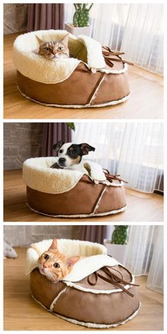 Sherpa Moccasin Cat And Dog Bed Sherpa Moccasin Cat Bed Purrrfect For Your Furbaby Pet Beds, Dog Bed, Pets Online, Cat Condo, Unique Cats, Cat Behavior, Cat Supplies, Cat Furniture, Dog Houses