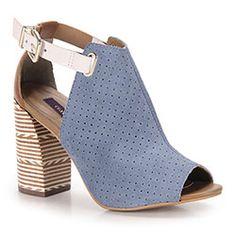 Sandália Salto Feminina Cravo & Canela - Azul