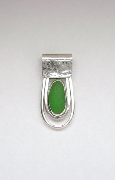 Sea Glass Jewelry  Sterling Green Sea Glass by SignetureLine,