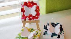 Invista em quadro feito de borboletas de papel para redecorar as suas paredes de forma bem interessante e delicada.