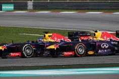 Malaysian GP 2013 - Sepang - Red Bull F1 Team - Sebastian Vettel and Mark Webber involved in a great duel for Victory! #OZRACING