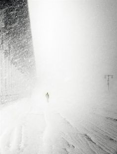 """""""I am trudging through snowbanks along the windswept Magnificent Mile, collar upturned against the blinding whiteout.""""   chapter 66"""