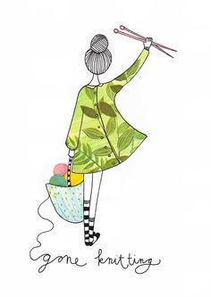Gone knitting