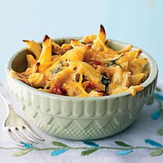 100 Easy Chicken Recipes | Three-Cheese Chicken Penne Florentine | CookingLight.com