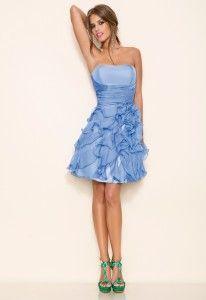 Vestido corto de seda de la colección Daniella Nova, en tu tienda Elan boutique.