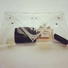 Handbag, minimalist handbag, Clear clutch, transparent bag, pvc bag, clear purse, minimalist fashion, handmade, translucent, lucite, clear. $35 @ www.eternitinewyork.etsy.com