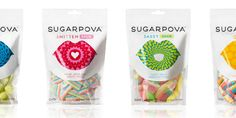 A new gummy and sour candy line dubbed Sugarpova by tennis star Maria Sharapova. Designed by Red Antler.