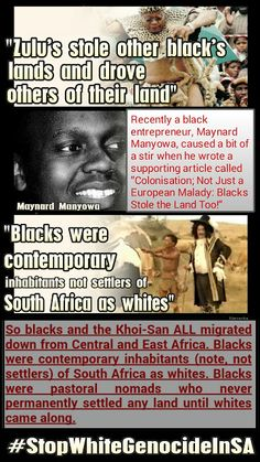 """DOES SOUTH AFRICA BELONG TO (ONLY) THE KHOI-SAN AND/OR BLACKS?  """"BLACKS were contemporary inhabitants NOT settlers... Read more....  Stop White Genocide In SA #StopWhiteGenocideInSA"""