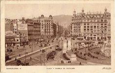Plaza y Rambla de Cataluña Big Ben, Paris Skyline, Travel, Antique Photos, Legends, Black And White, Cities, Historia, Hipster Stuff